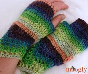 Chevron Lace Fingerless Gloves