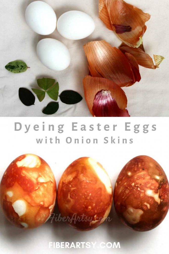 Dyeing Easter Eggs with Onion Skins