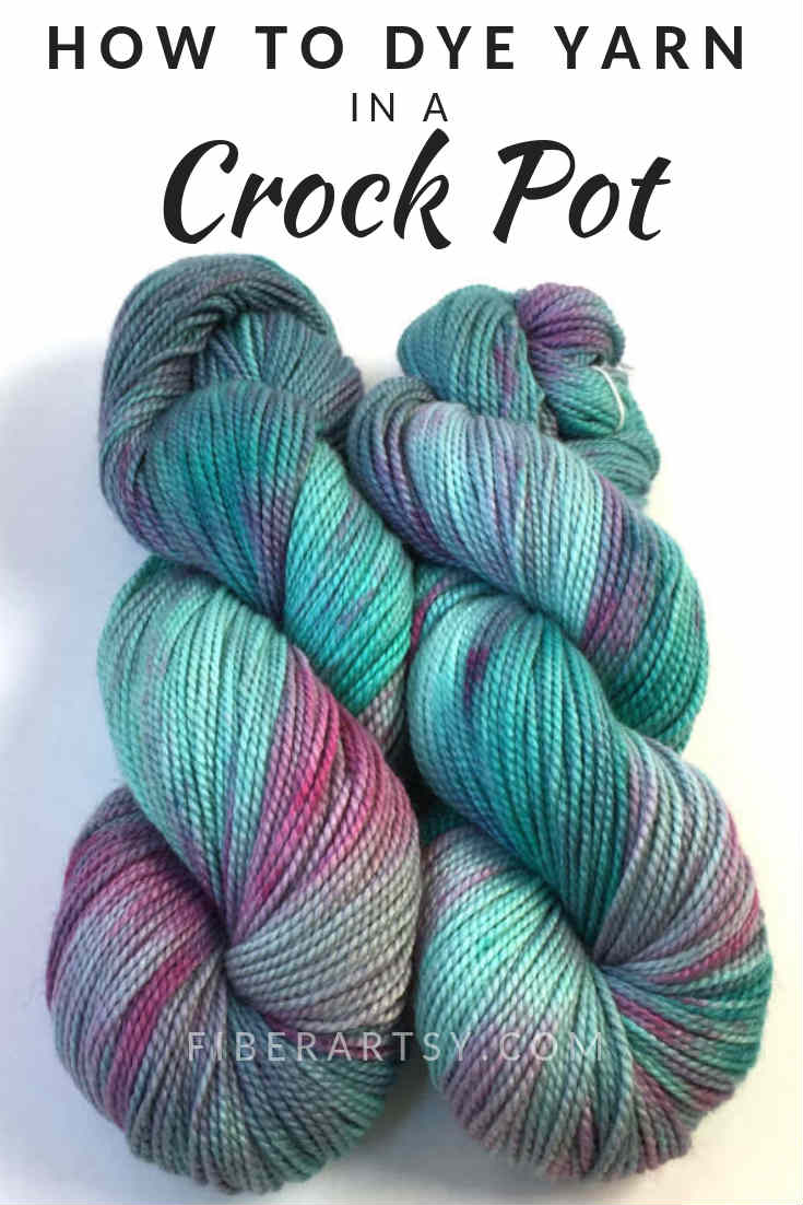 Yarn Dyeing - Learn how to dye your own beautiful yarn colorways with this easy yarn dyeing technique which uses a slow cooker or crock pot.