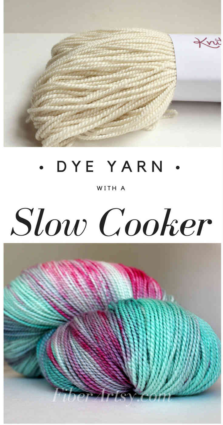 Slow Cooker or Crock Pot Yarn Dyeing, Learn how to dye beautiful yarn at home using your slow cooker, a FiberArtsy.com tutorial