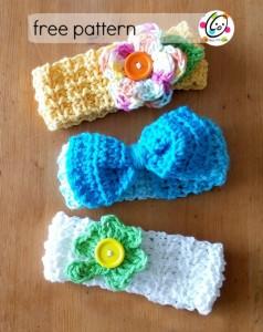Baby Lucy Crochet Headbands