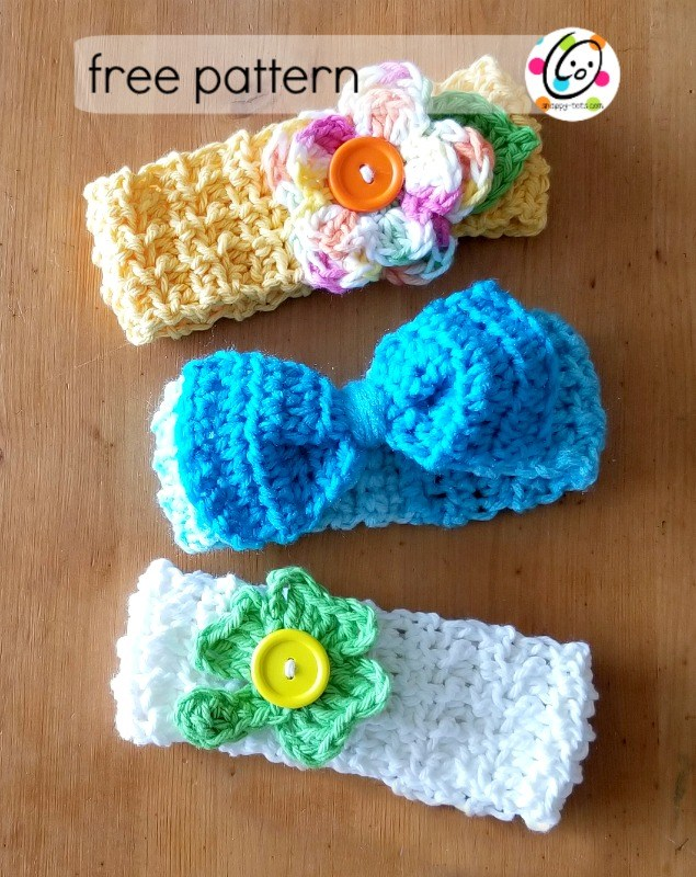 Baby Lucy Crochet Headbands Fiberartsycom