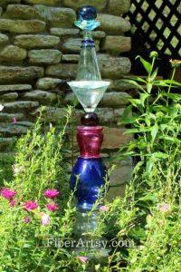 Glass Garden Totem - FiberArtsy.com