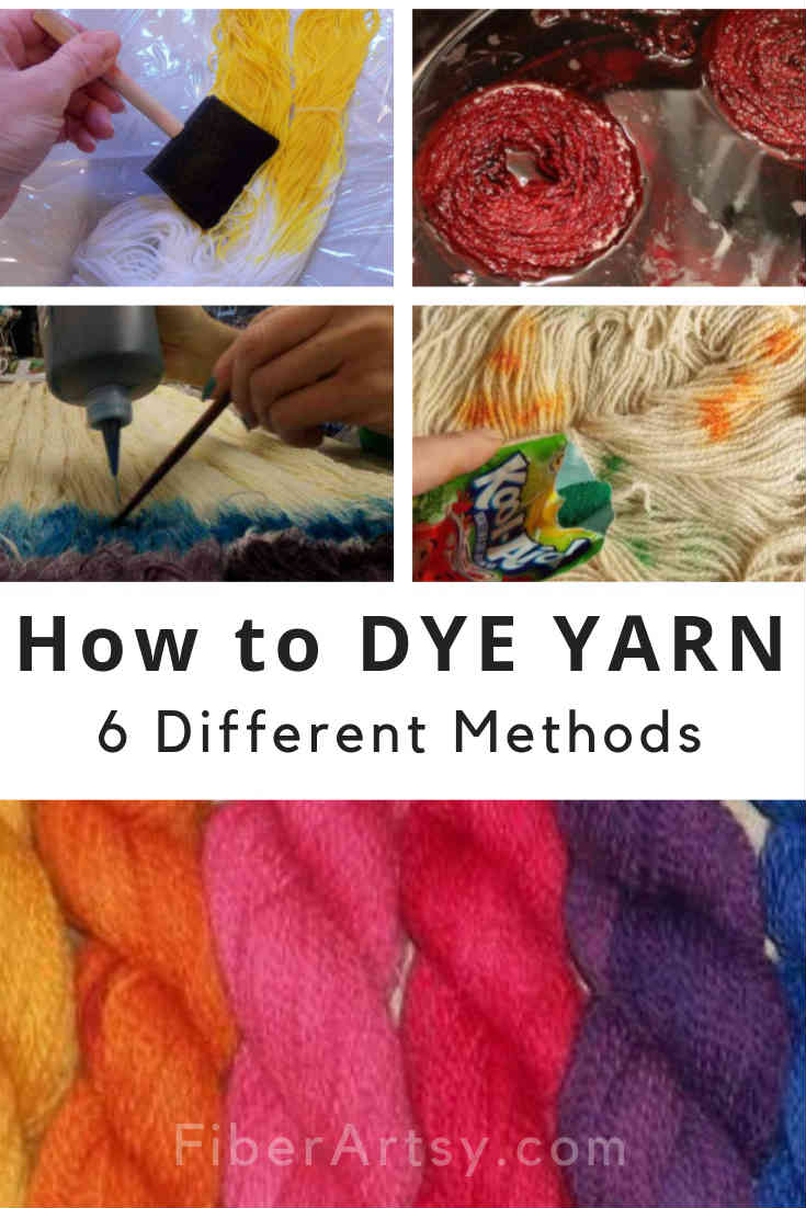 Learn How To DYE YARN 6 Yarn Dyeing Techniques explained