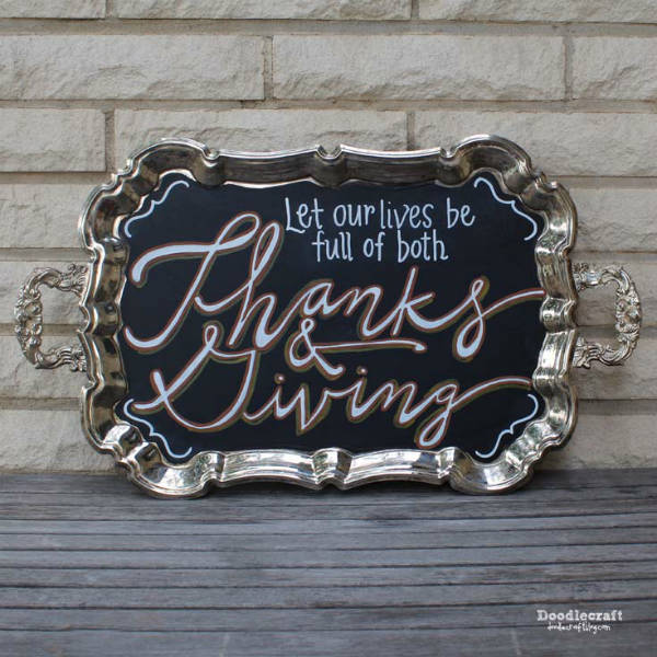 Thanksgiving Dinner DIY Serving Platter