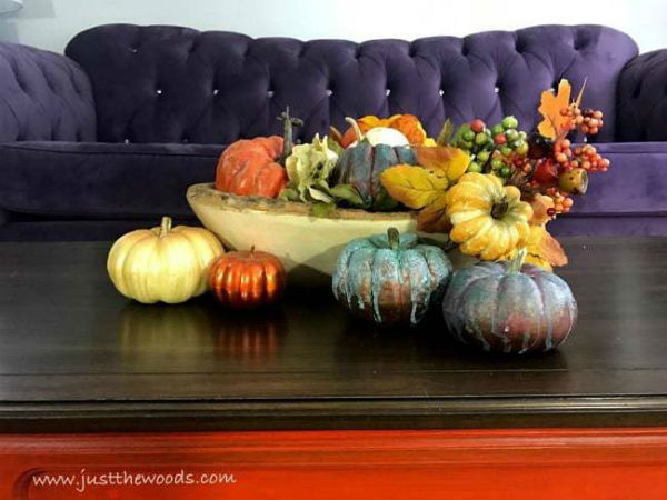 Autumn Table Decor, DIY Pumpkin Centerpiece