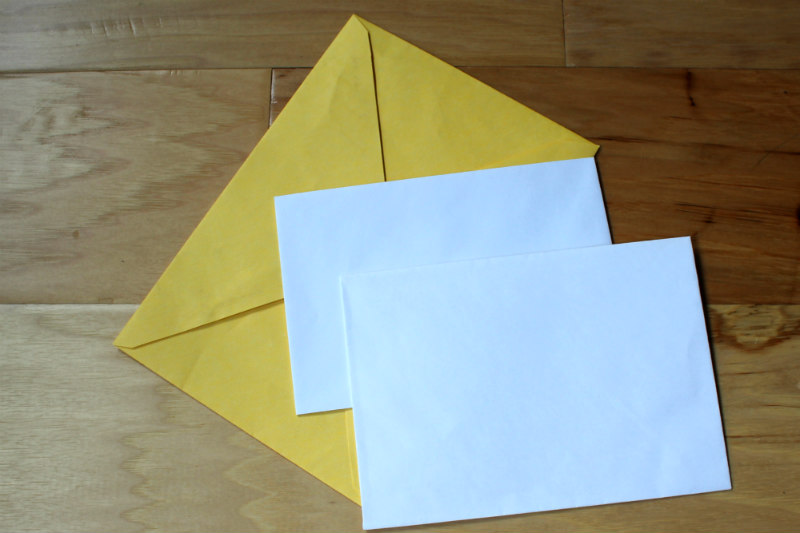 Blank Envelopes for templates to make DIY Envelopes