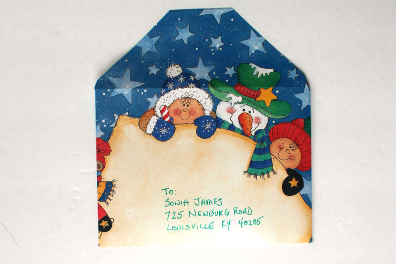DIY Christmas Card Envelope from scrap book paper