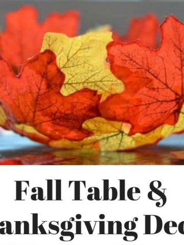 DIY Fall and Thanksgiving Table Decorations feat