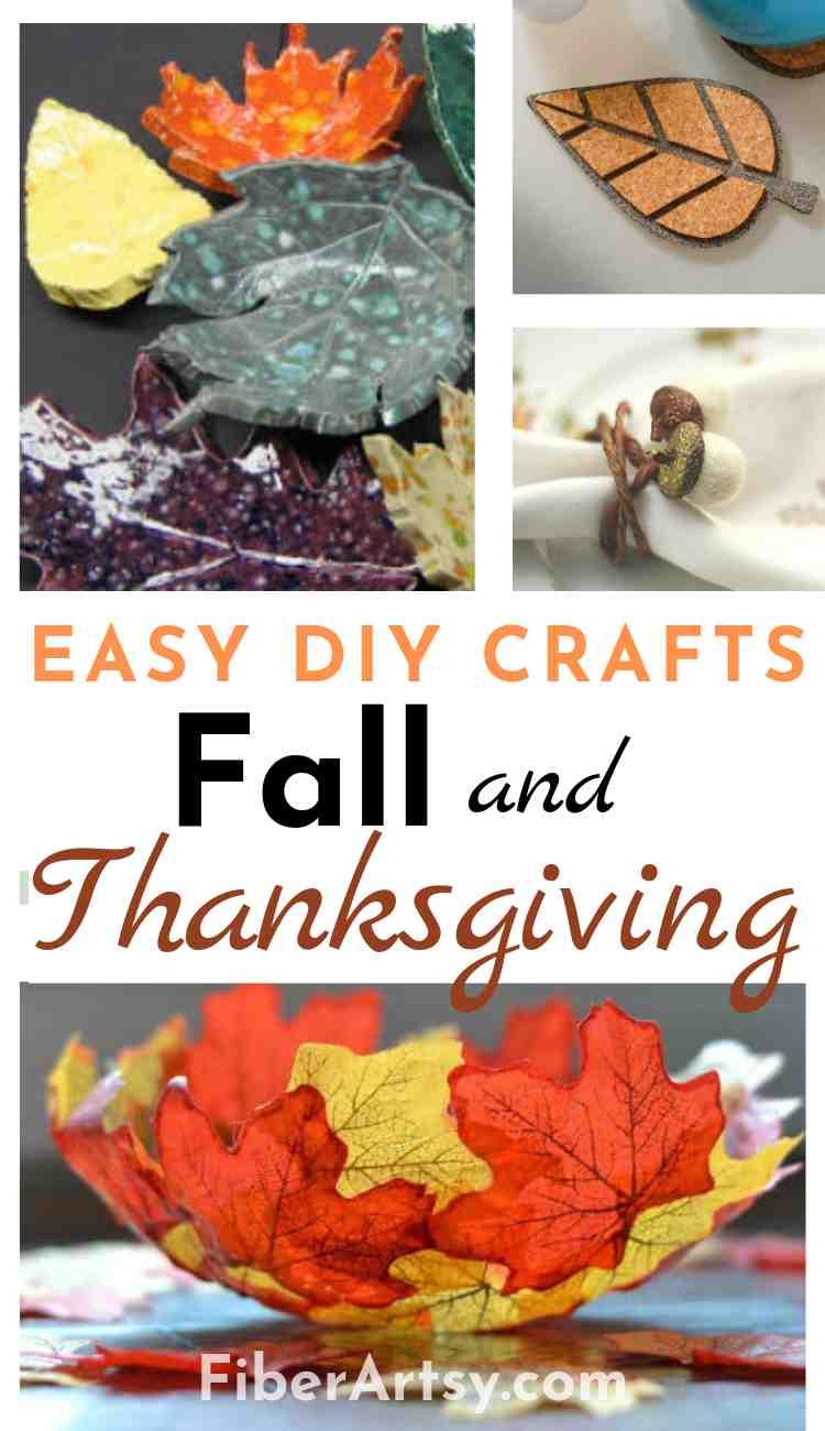 Easy DIY Thanksgiving Table Decorations - FiberArtsy.com