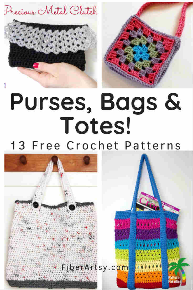 Free Crochet Patterns for Purses Bags and Tote Bags