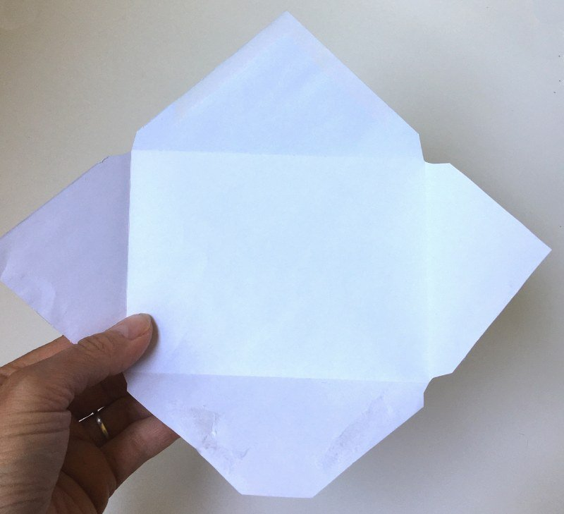 template for diy envelope
