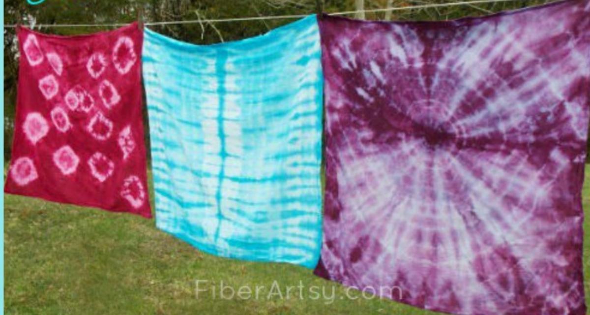 Shibori Dyeing How to Tie Dye or Shibori Dye Fabric