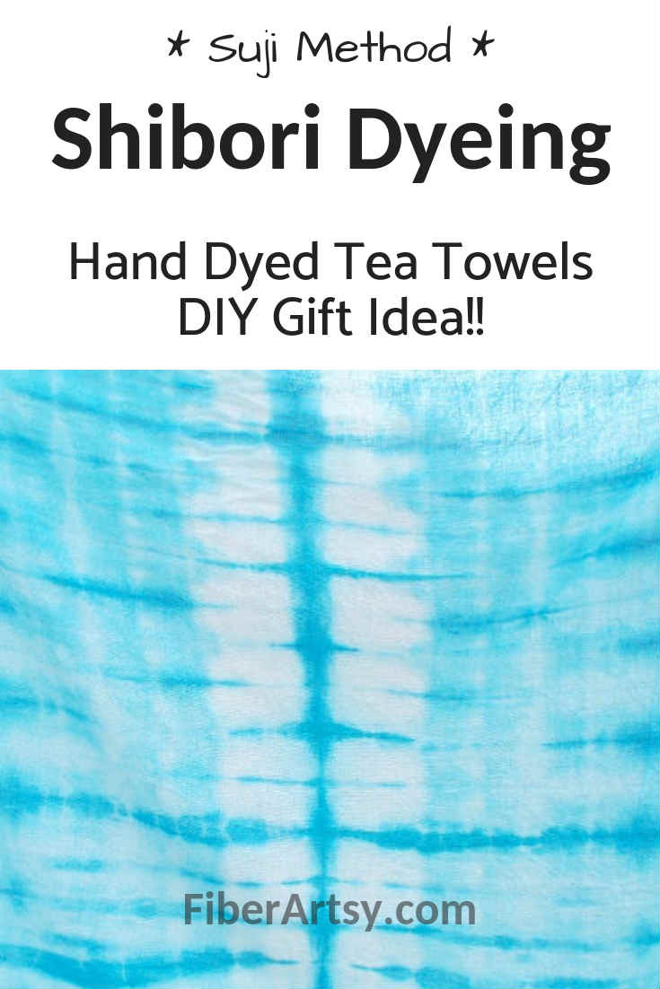 Shibori Dyeing Learn how to hand dye fabric using the Suji method of dyeing