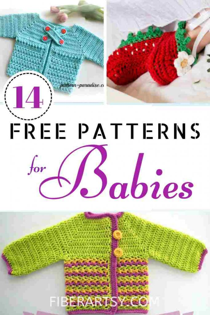 Free Patterns for Baby for Knitting and Crochet