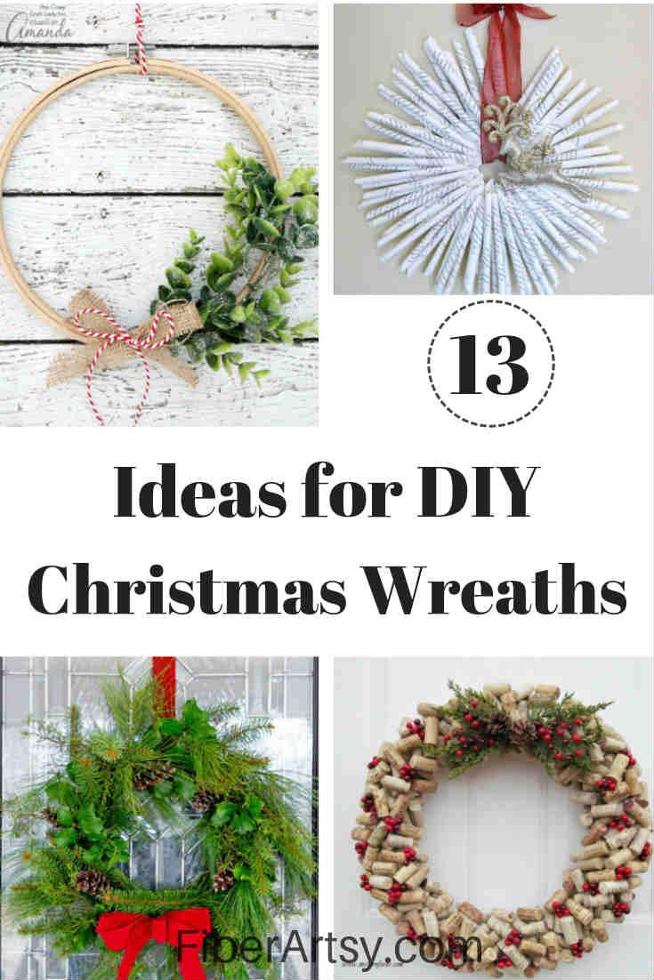 Diy Christmas Wreath Ideas Fiberartsy