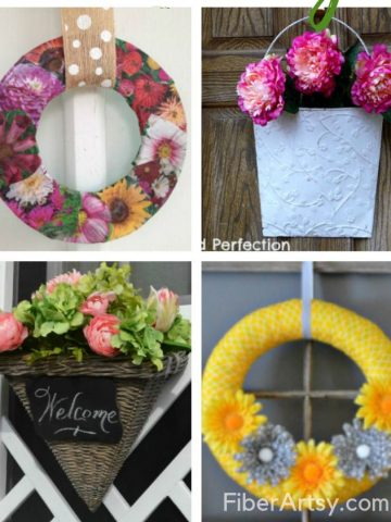 Creative DIY Ideas for Spring Wreaths feature