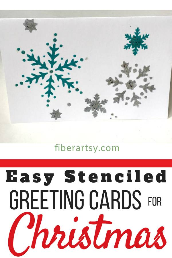 How to make Stenciled Greeting Cards for Christmas
