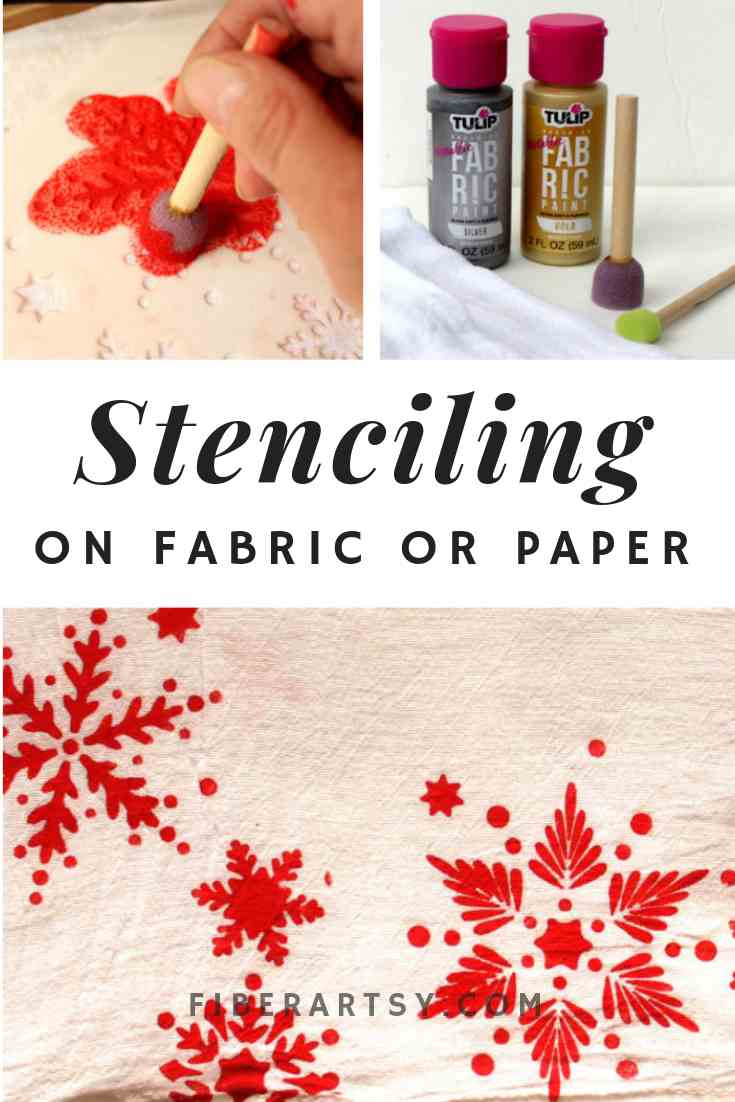 How to Stencil on Fabric and Paper - FiberArtsy com