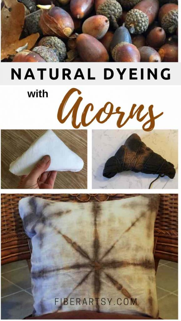 Natural Dyeing with Acorns. A great dye for cotton fabric and wool yarn.