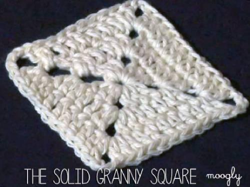 Solid Granny Square Pattern