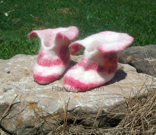 Wet Felted Childrens Slippers
