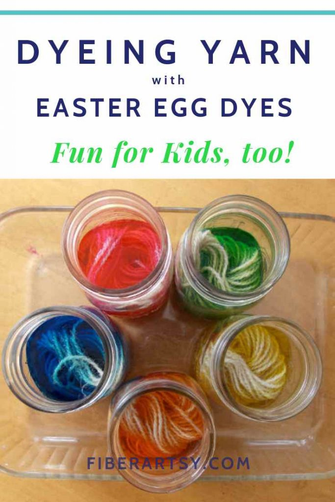 How to dye yarn with Easter Egg color tablets