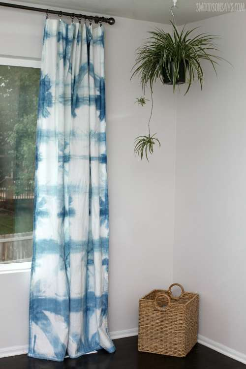 Tie Dye or Shibori Dyed Curtains