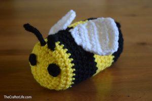 Bee Drawstring Sunglass Bag