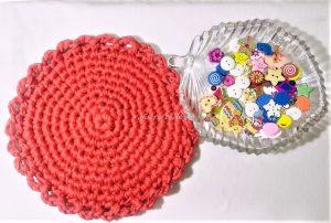 Tshirt Yarn Round Tablemat