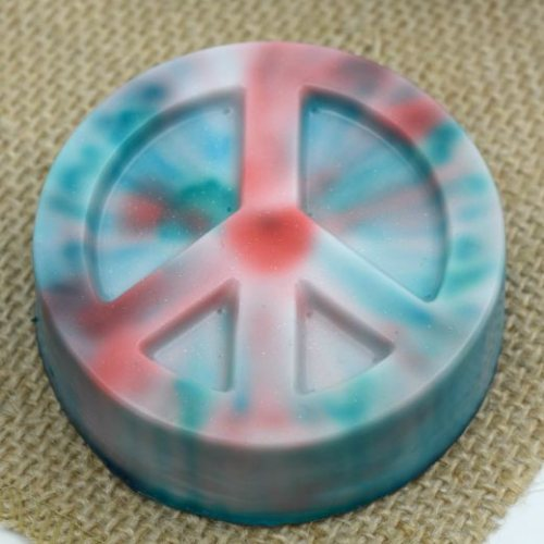 Homemade Tie Dyed Soap