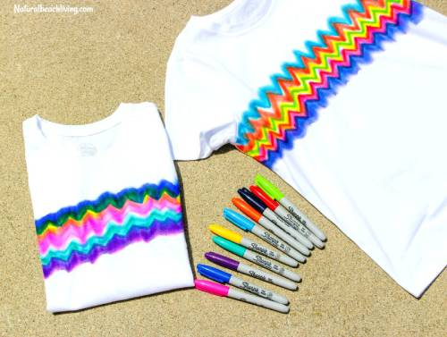 T Shirts Dyed with Sharpies