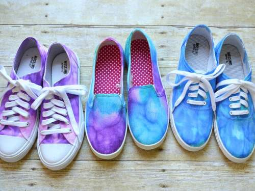 Fabric Shoes dyed with Sharpies