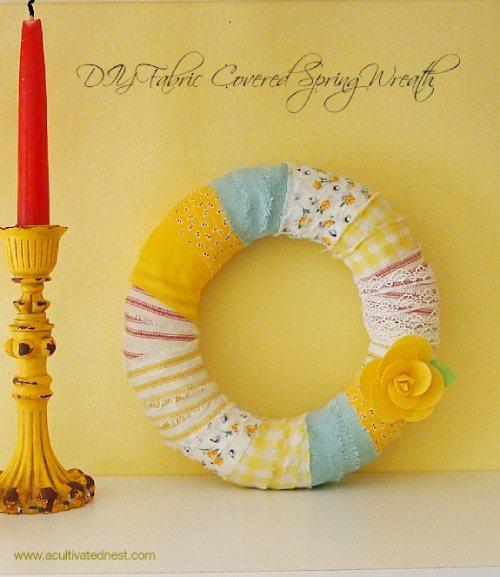 Blukatkraft Easy Diy Scrap Fabric Ribbon Wreath: 17 Fun Fabric Scraps Projects