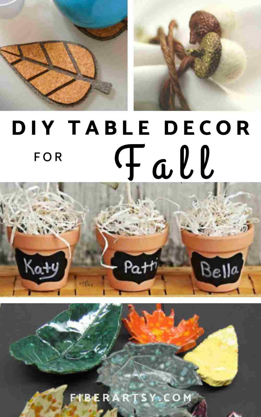 Homemade DIY Fall and Thanksgiving Table Decorations