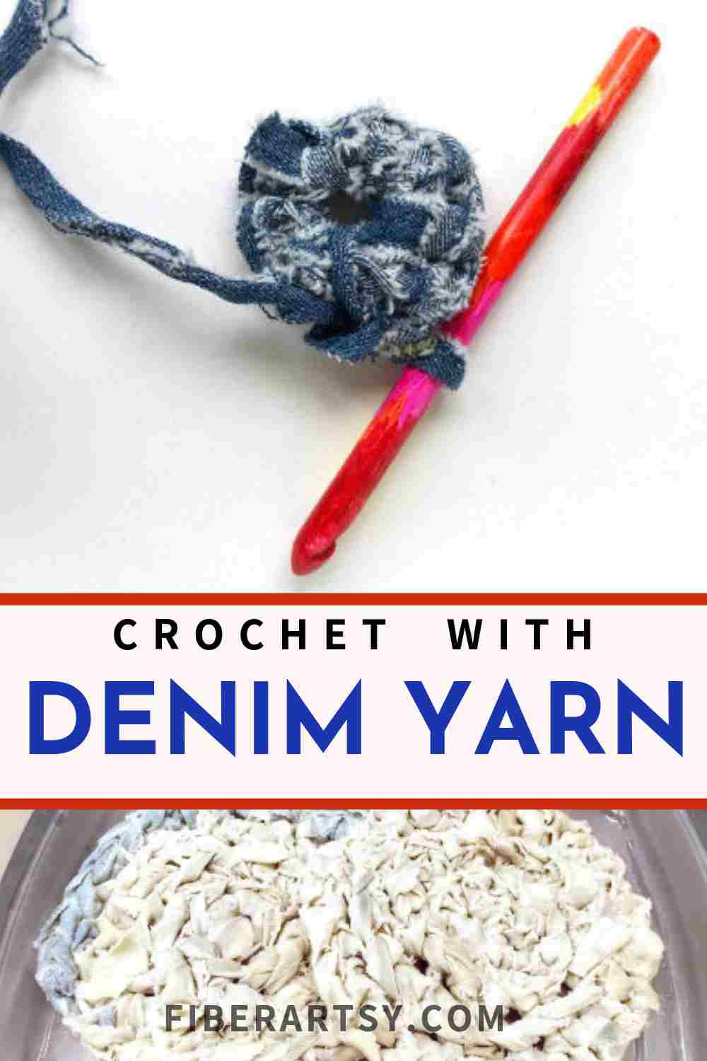 How to Crochet with Denim Yarn