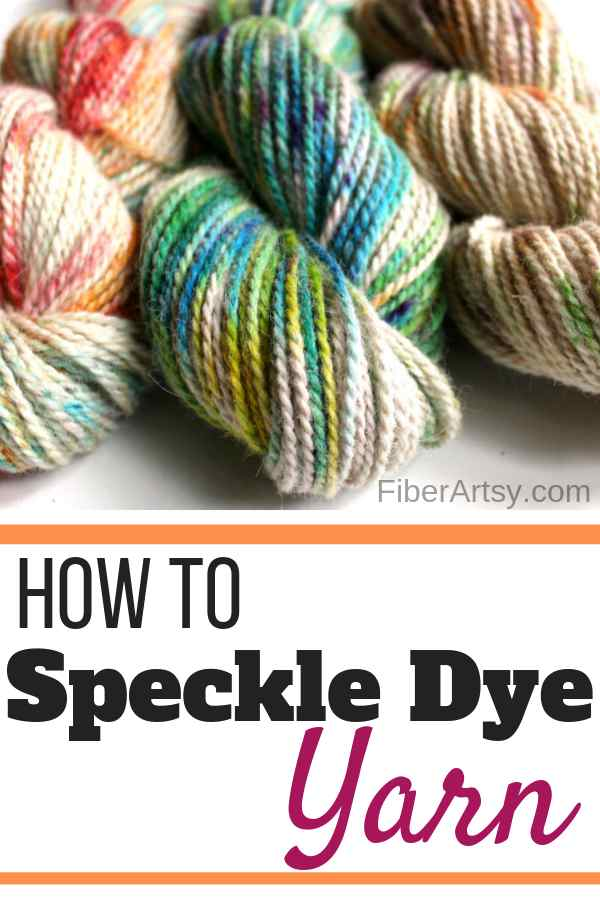 How to make Speckle Dyed Yarn