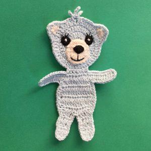 Crochet Teddy Bear Applique