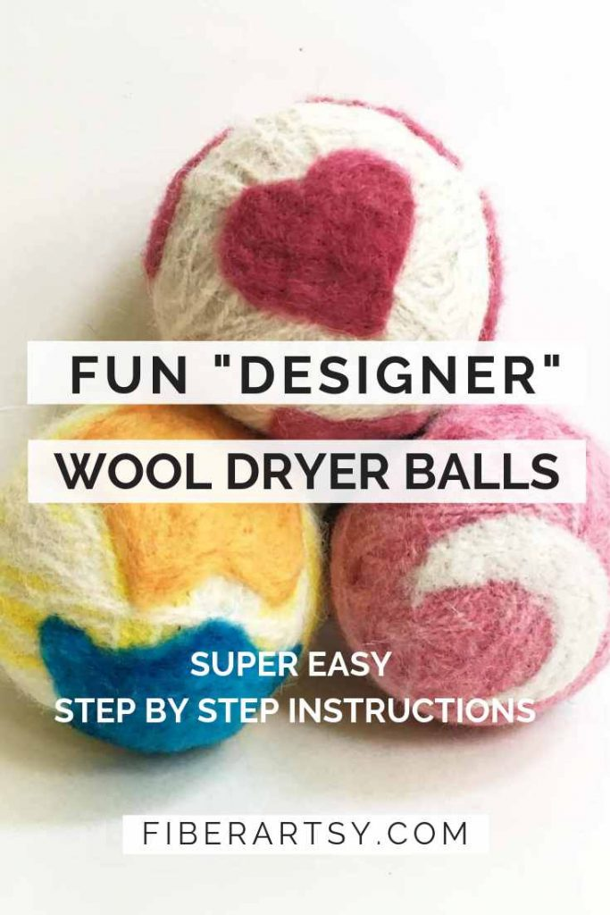 DIY Dryer Balls with Needle Felted Designs