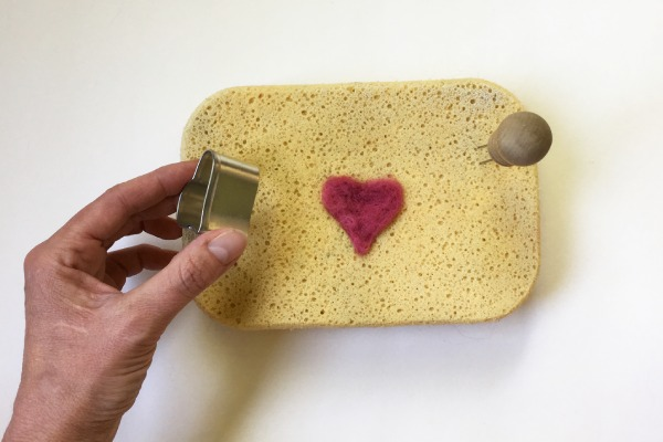 Needle Felting a Heart Shape
