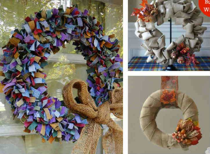 DIY and Handmade Fall Wreath Ideas