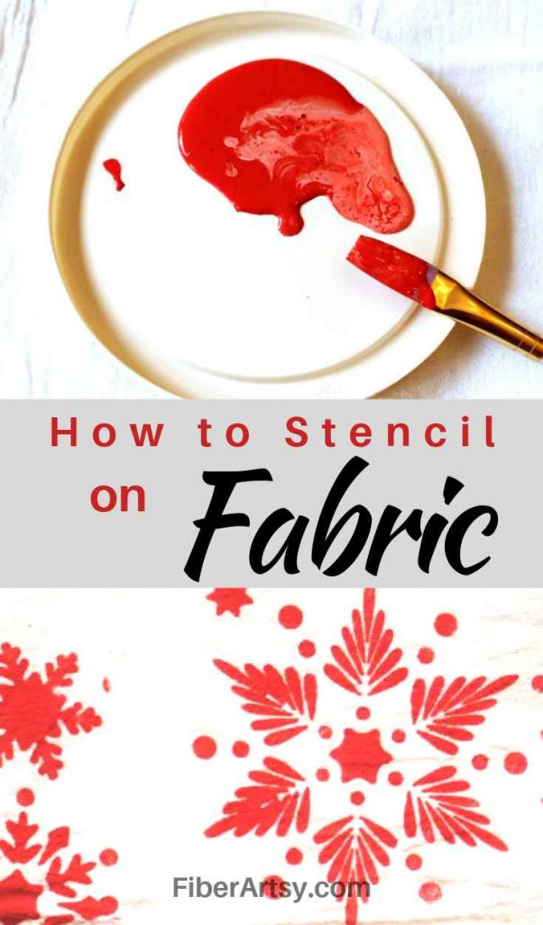 Stenciling on Fabric and Paper