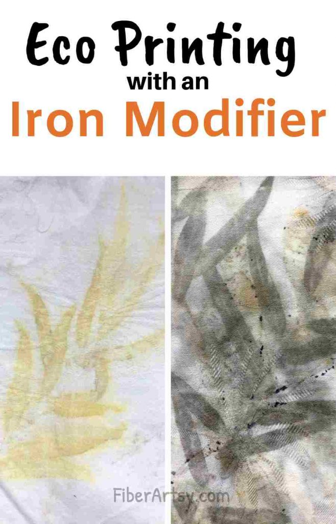 Eco Printing with an Iron Modifier or Mordant