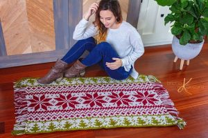 Fair Isle Holiday Crochet Rug