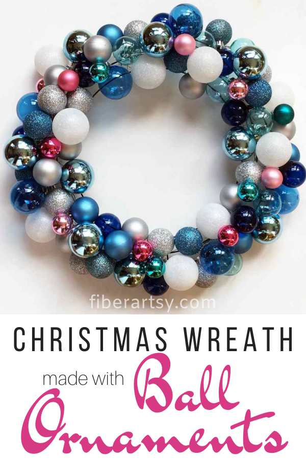 DIY Christmas Wreath with Ball Ornaments