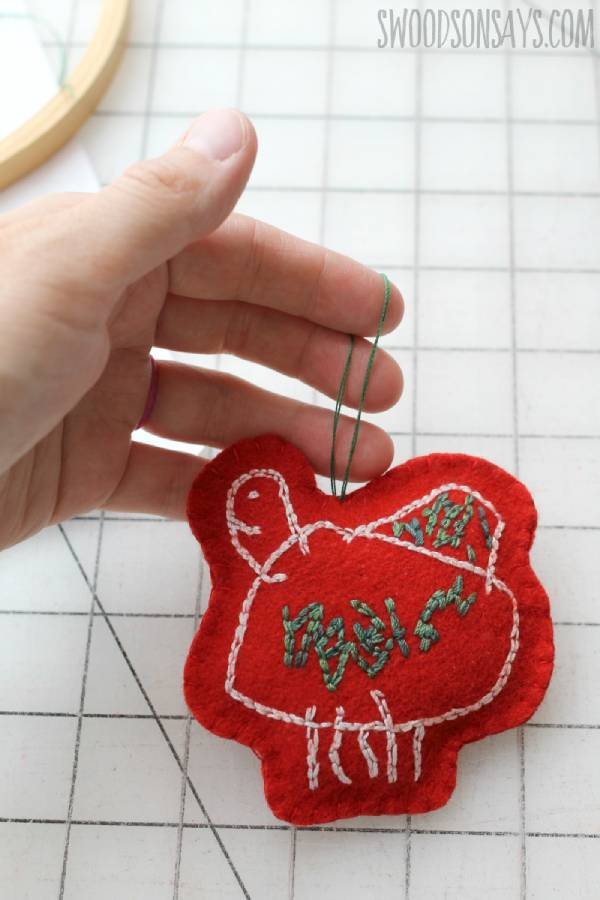 Embroidered Artwork Ornament