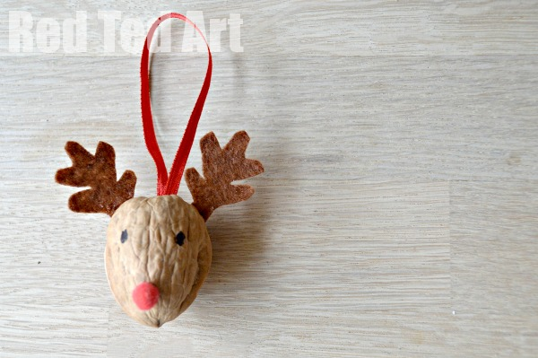 Walnut Reindeer Ornament