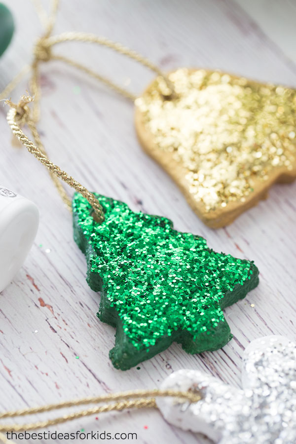 Salt Dough Glitter Ornaments