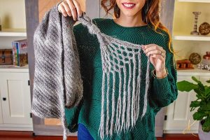 Free Knitting Pattern - Macrame Shawl