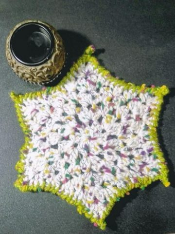 Free Crochet Patterns Granny Star Placemat